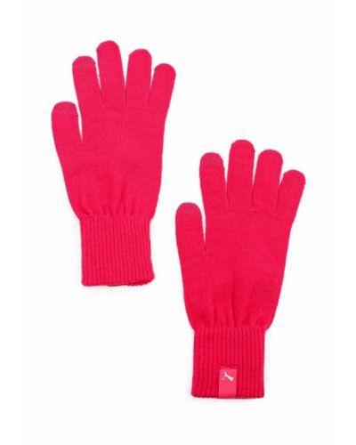 Розовые перчатки Puma