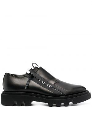 Черные кожаные туфли на молнии Givenchy