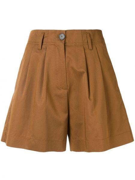 Коричневые шорты с карманами на пуговицах Forte Forte
