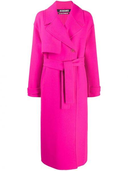 Różowy płaszcz wełniany Jacquemus
