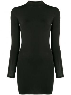 Открытое черное платье макси с открытой спиной Maison Close