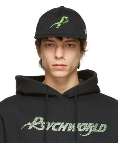 Czarna czapka z haftem bawełniana Psychworld