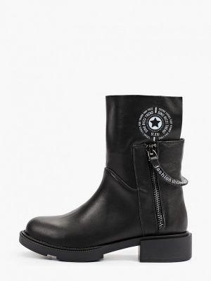 Черные высокие ботинки Dino Ricci Trend