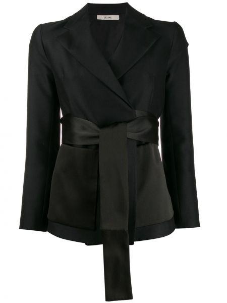 Черный пиджак с запахом Céline Pre-owned