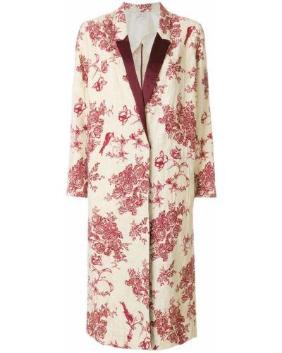 Пальто с цветочным принтом Forte Forte