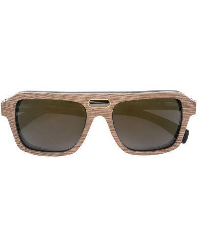 Солнцезащитные очки золотой Gold And Wood