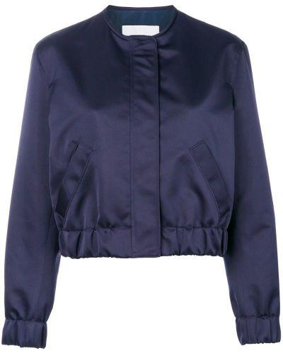 Синяя длинная куртка Msgm