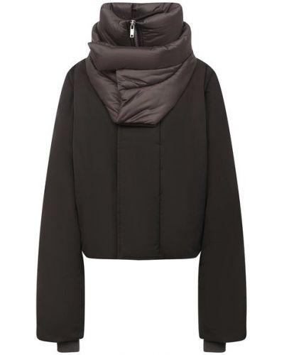 Пуховая серая куртка с подкладкой с перьями Rick Owens