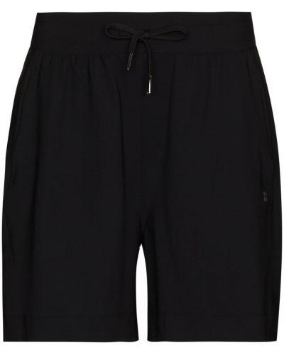 Czarne szorty z printem Sweaty Betty