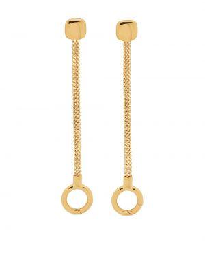 Золотистые серьги золотые позолоченные Monica Vinader