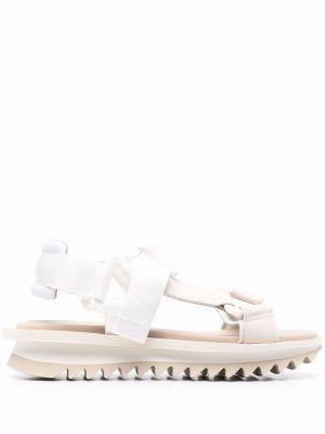 Кожаные с ремешком сандалии на платформе Grey Mer