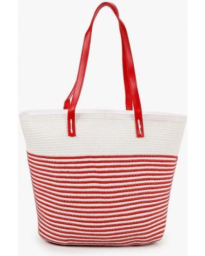 Соломенная красная сумка с ручками Katomi