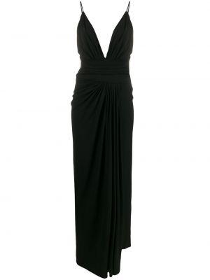 Платье со складками с V-образным вырезом Alexandre Vauthier