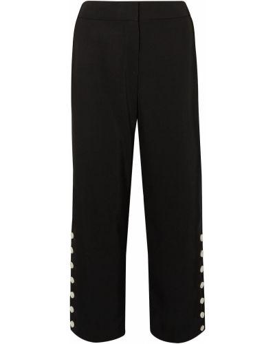 Czarne spodnie zapinane na guziki Rag & Bone