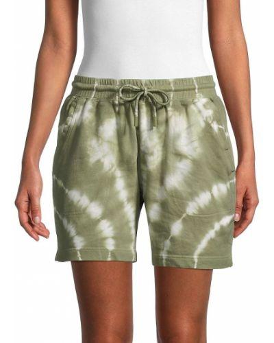Зеленые хлопковые шорты для плаванья с карманами Nicole Miller
