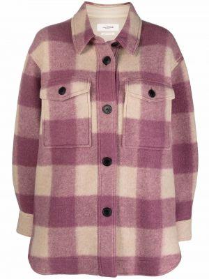 Розовое акриловое пальто Isabel Marant étoile