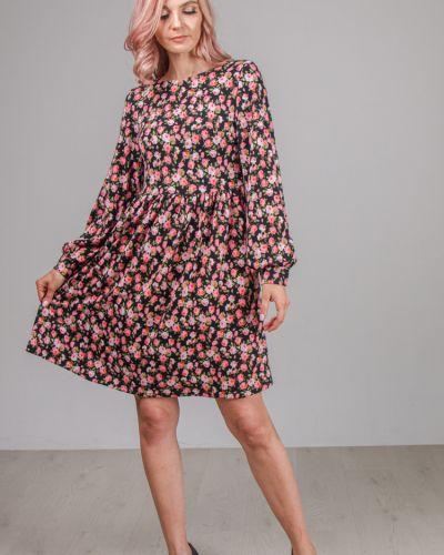 С рукавами приталенное платье на молнии свободного кроя Lila Classic Style