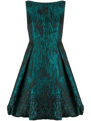 Расклешенное приталенное платье с пайетками с V-образным вырезом Talbot Runhof