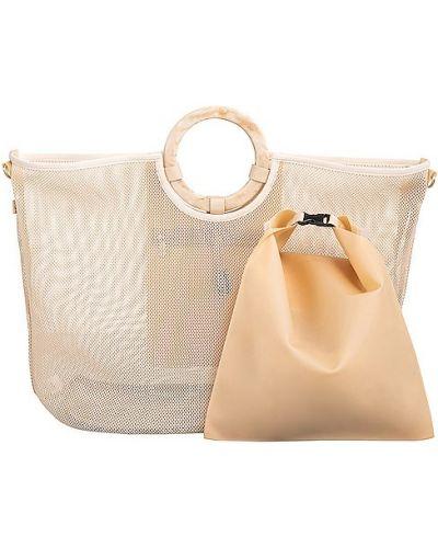 Beżowa torebka z klamrą Beis