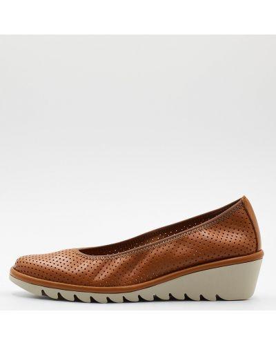 Кожаные туфли - коричневые The Flexx
