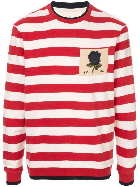 Biały sweter w paski bawełniany Kent & Curwen