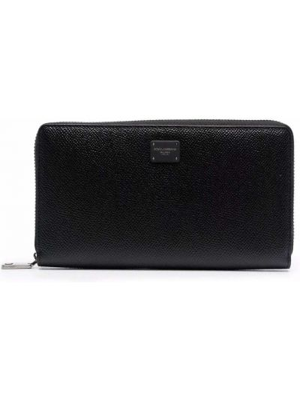 Черный кошелек на молнии Dolce & Gabbana