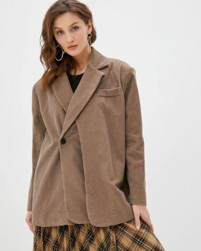 Коричневый пиджак B.style