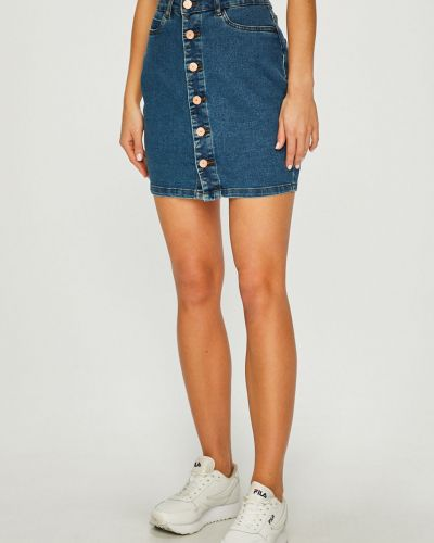 Юбка мини джинсовая на пуговицах Noisy May