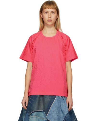Розовая хлопковая с рукавами рубашка Junya Watanabe