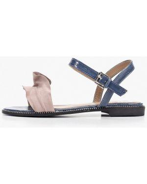 Синие кожаные сандалии Inario