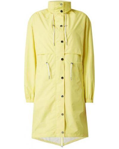Żółta parkа z kapturem z długimi rękawami Karl Lagerfeld