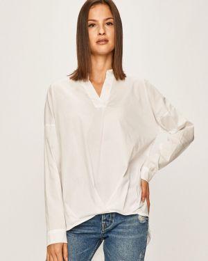 Блузка с длинным рукавом однотонная с V-образным вырезом Answear