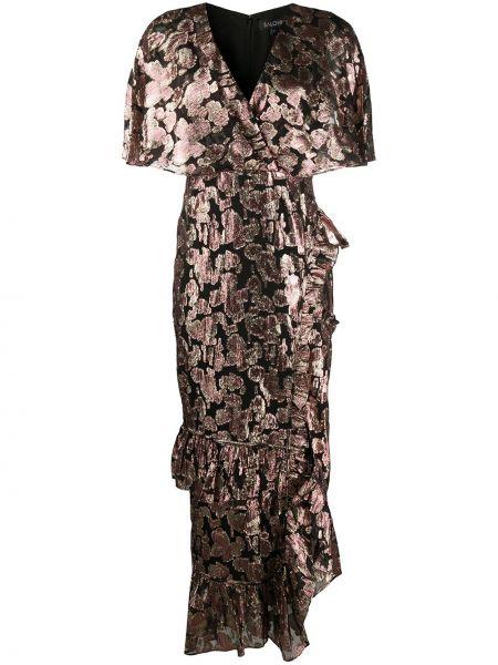 Платье мини с запахом с цветочным принтом Saloni