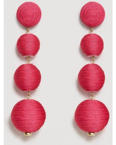 Розовые серьги Mango