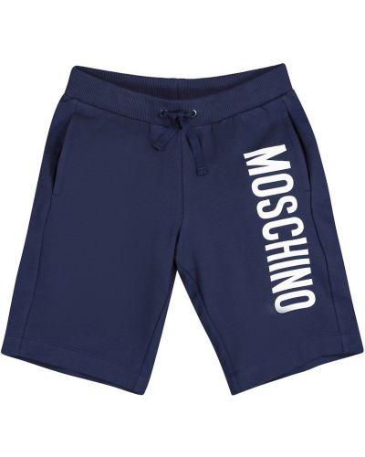 Bawełna bawełna niebieski szorty rozciągać Moschino Kids