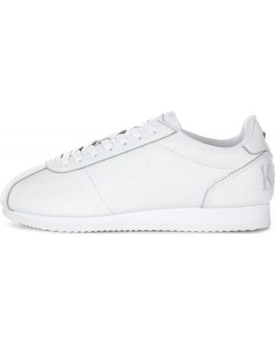 Белые кроссовки на шнуровке Kappa