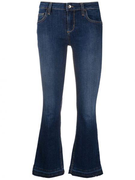 Расклешенные синие укороченные джинсы с низкой посадкой Liu Jo