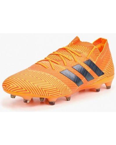 Оранжевые бутсы Adidas