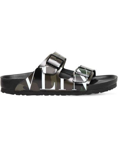 С ремешком кожаные сандалии с пряжкой Valentino Garavani