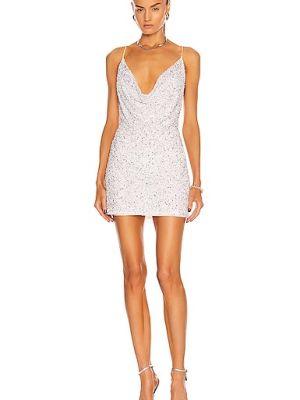 Biała sukienka wieczorowa srebrna Retrofete