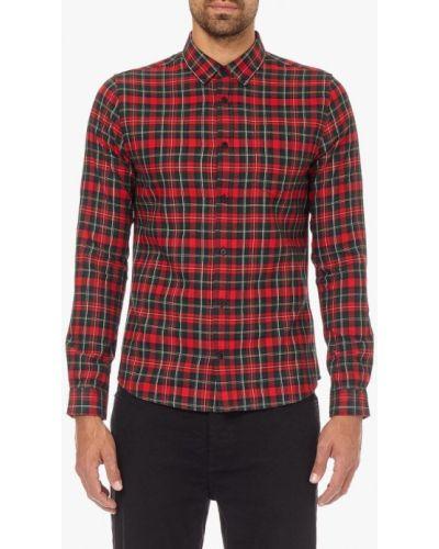 Красная рубашка с длинным рукавом Burton Menswear London