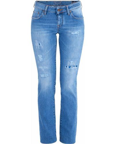 Прямые джинсы с эффектом потертости с заклепками Jacob Cohen