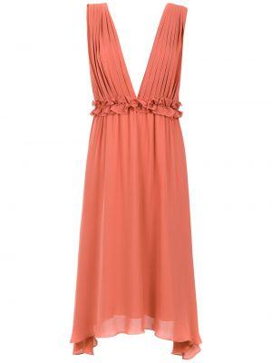 Платье с V-образным вырезом с оборками Olympiah