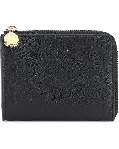 Czarny portfel skórzany Stella Mccartney