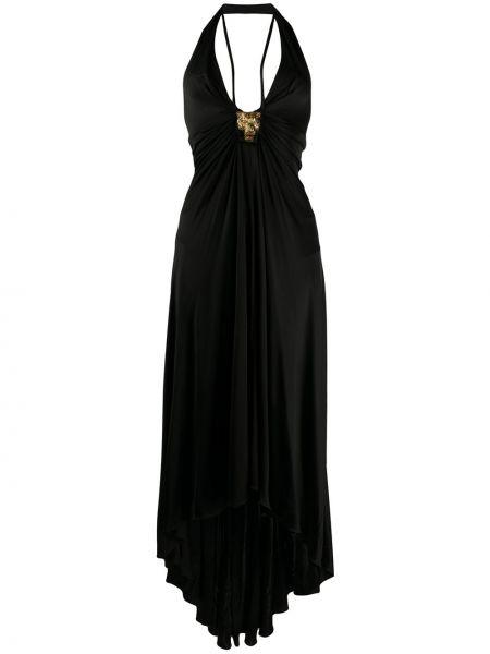 Платье с открытой спиной с V-образным вырезом Roberto Cavalli