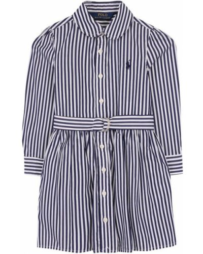 Платье макси с вышивкой в полоску Polo Ralph Lauren