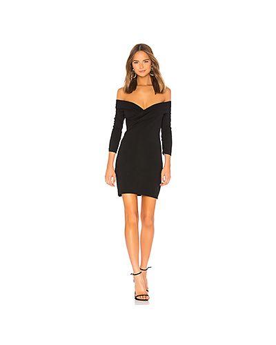 Платье мини с открытыми плечами со складками Majorelle
