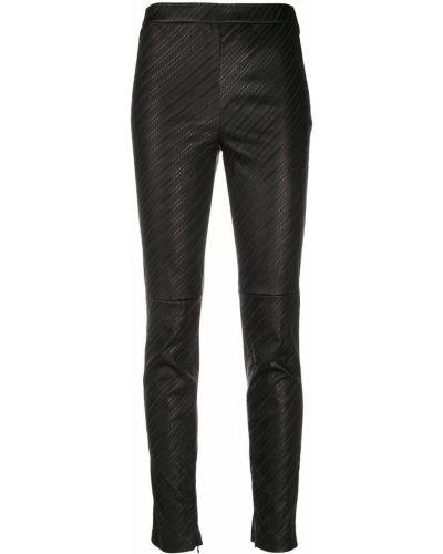 Черные кожаные леггинсы с высокой посадкой Givenchy