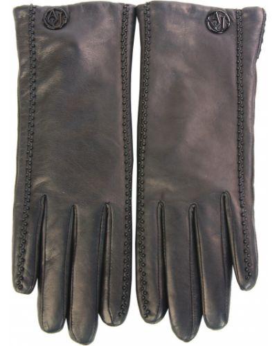 Кожаные перчатки Armani Jeans