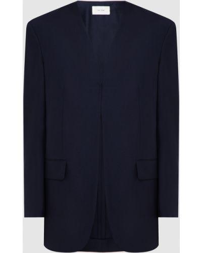 Шерстяной синий пиджак The Row